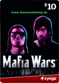 Mafia Wars 10 USD - Zynga Game Card