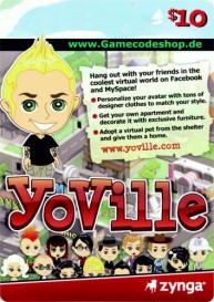 YoVille 10 USD - Zynga Game Card
