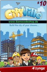 CityVille 10 USD - Zynga Game Card