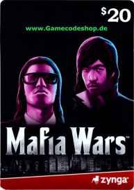 Mafia Wars 20 USD - Zynga Game Card