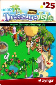 Treasure Isle 25 USD - Zynga Game Card
