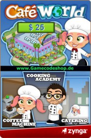 Café World 25 USD - Zynga Game Card