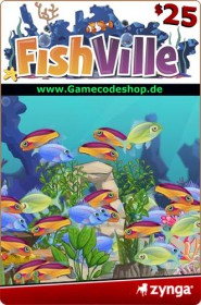 FishVille 25 USD - Zynga Game Card