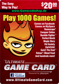 Ultimate Game Card - Wert 20 USD