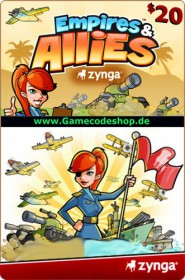 Empires & Allies 20 USD - Zynga Game Card
