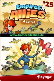 Empires & Allies 25 USD - Zynga Game Card