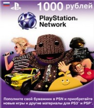 PlayStation Network Card (RUS) PSN Wert 1000 Rubel