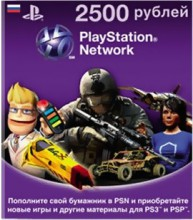 PlayStation Network Card (RUS) PSN Wert 2500 Rubel