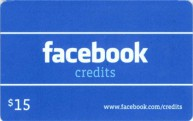 Facebook 15 USD Code Card