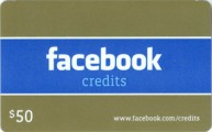 Facebook 50 USD Code Card